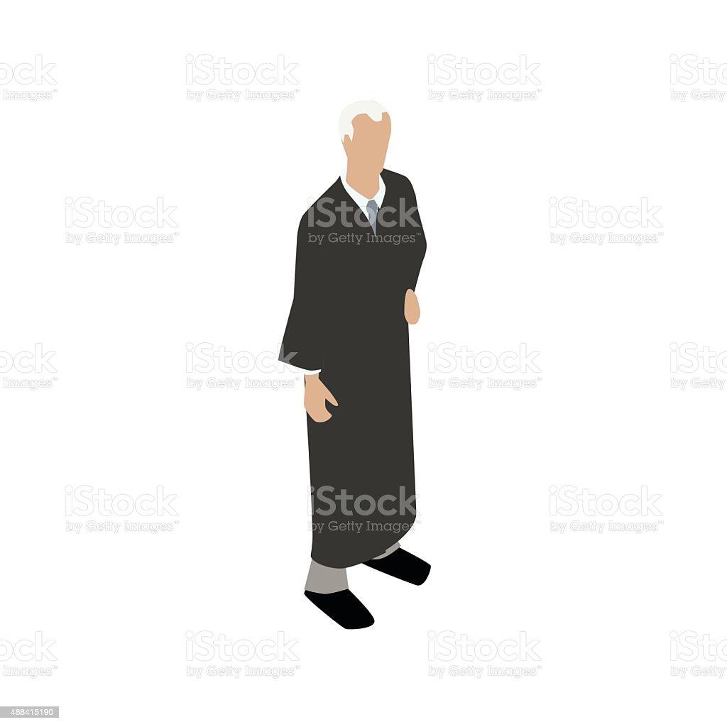 Judge flat illustration vector art illustration
