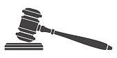 Judge gavel icon.
