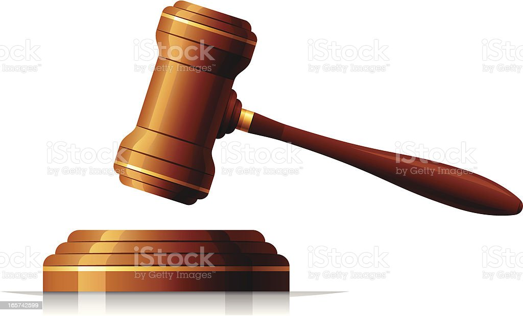 Judge gavel royalty-free stock vector art