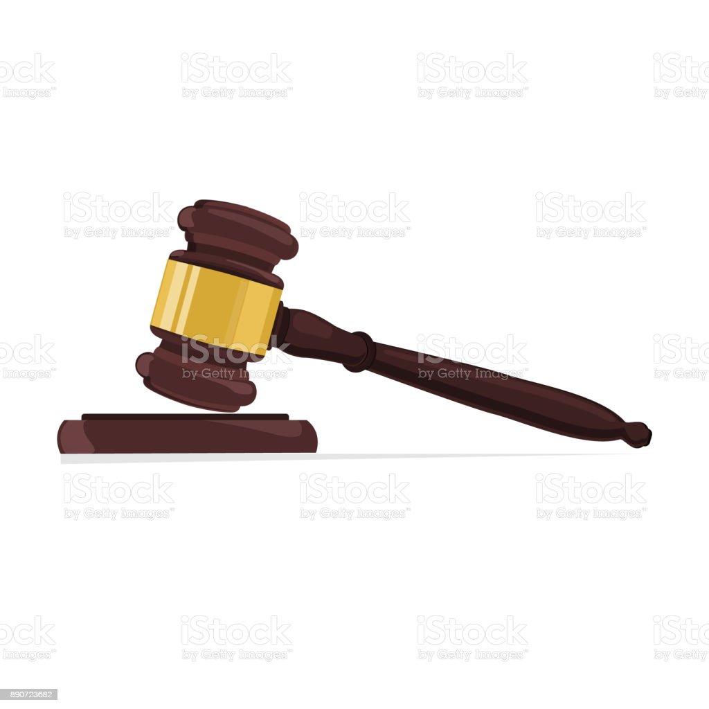 Judge gavel vector vector art illustration