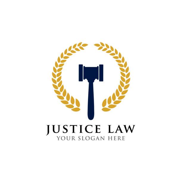 bildbanksillustrationer, clip art samt tecknat material och ikoner med domaren hammare vektor ikon illustration. domare klubban symbol - lawyer