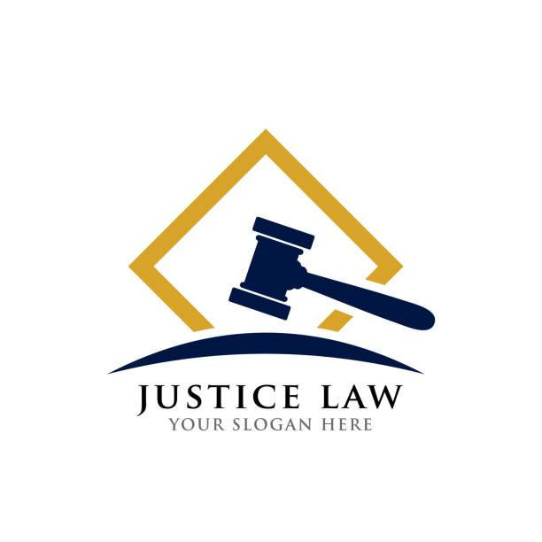 judge hammer vector icon illustration. judge gavel symbol vector art illustration