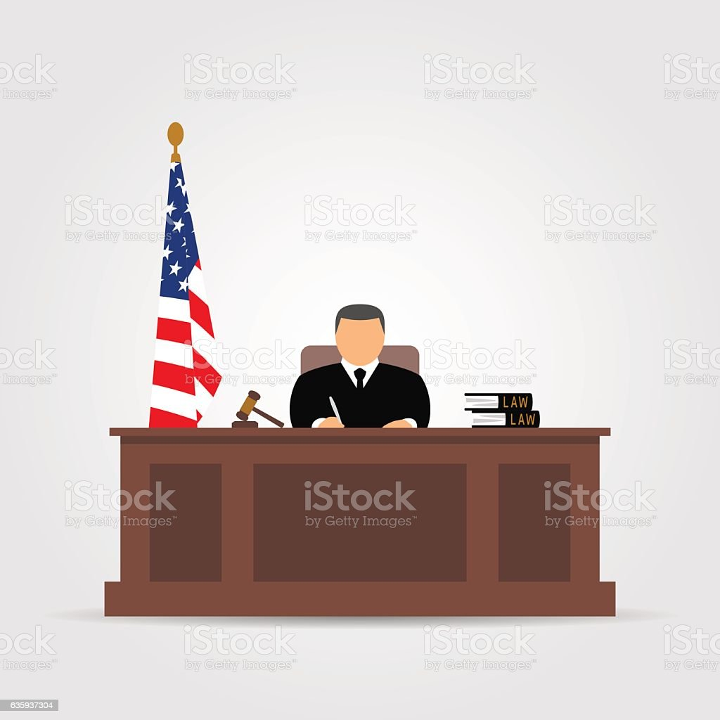 Judge icon vector art illustration