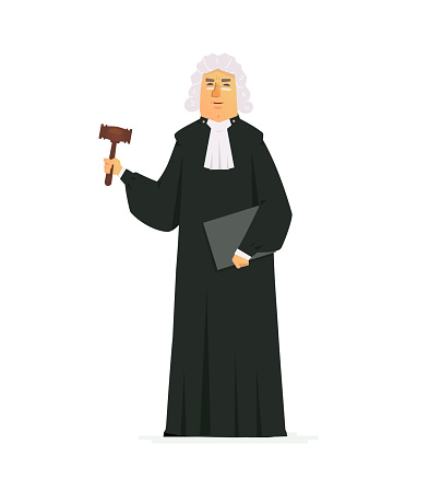 Judge - modern vector cartoon people characters illustration