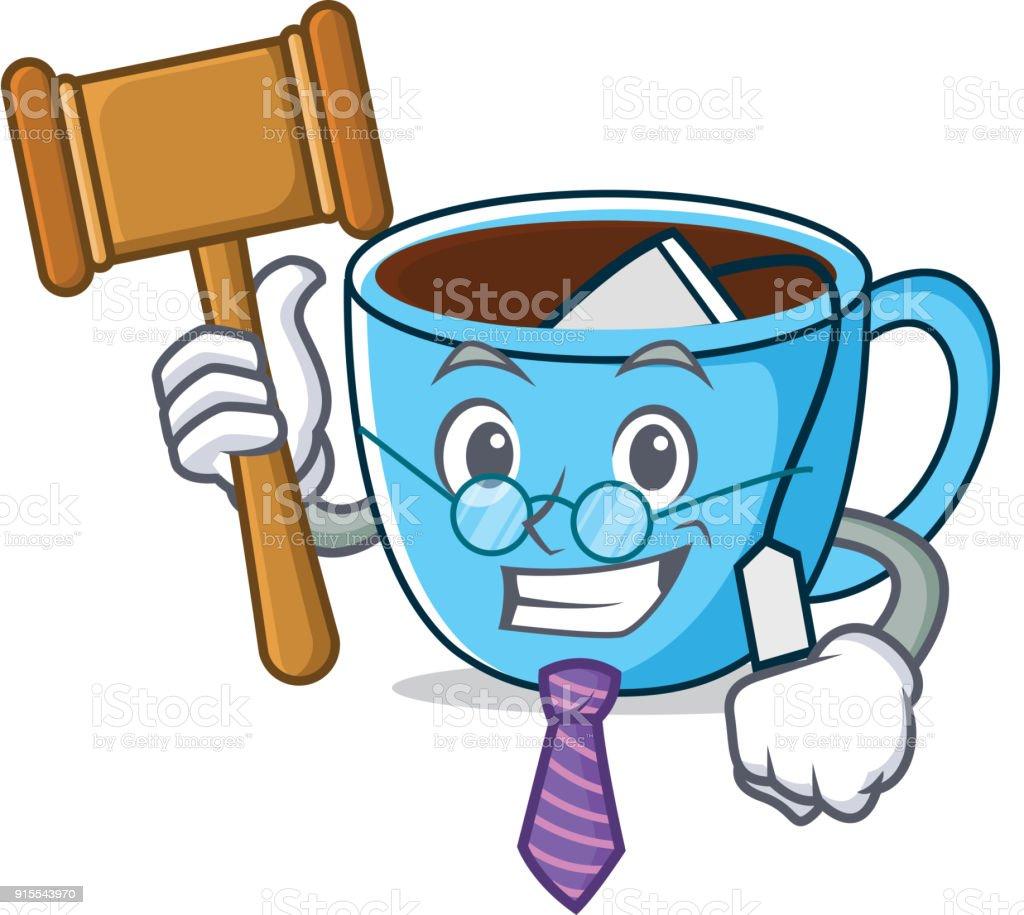 Richter Tee Tasse Maskottchen Cartoon Stock Vektor Art und mehr ...