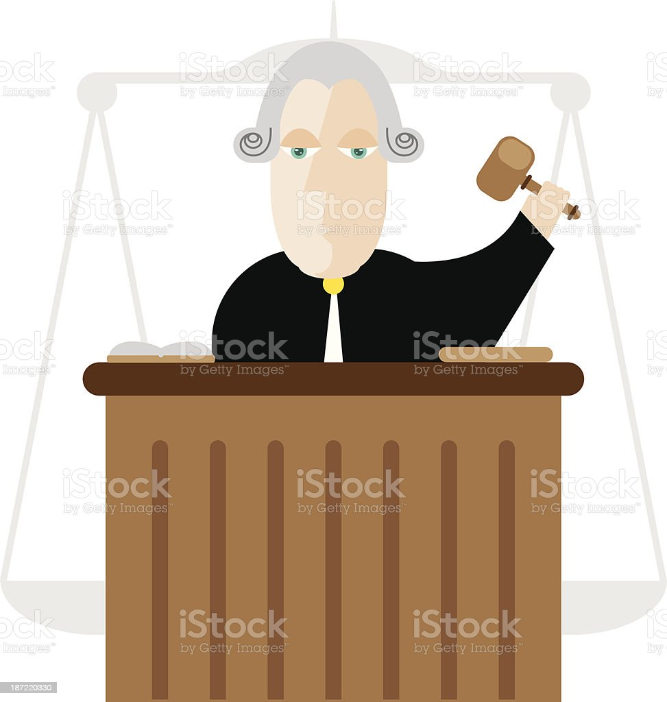 Judge royalty-free stock vector art