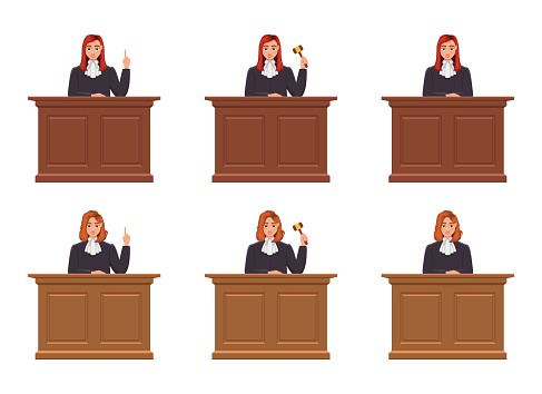 Judge woman vector design illustration isolated on white background