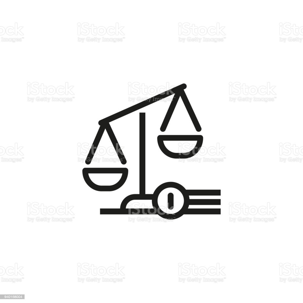 Judgement Symbol Icon Stock Vector Art More Images Of Balance