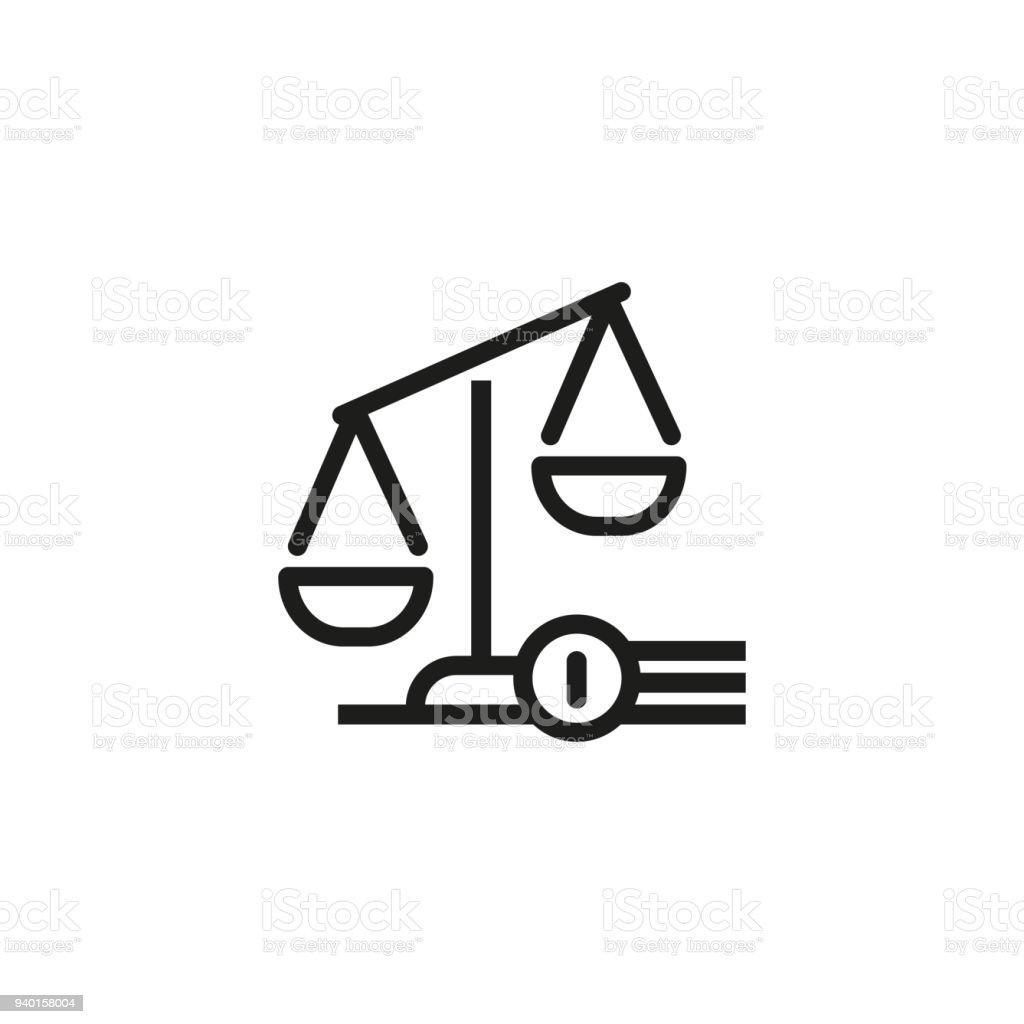 Judgement symbol icon vector art illustration