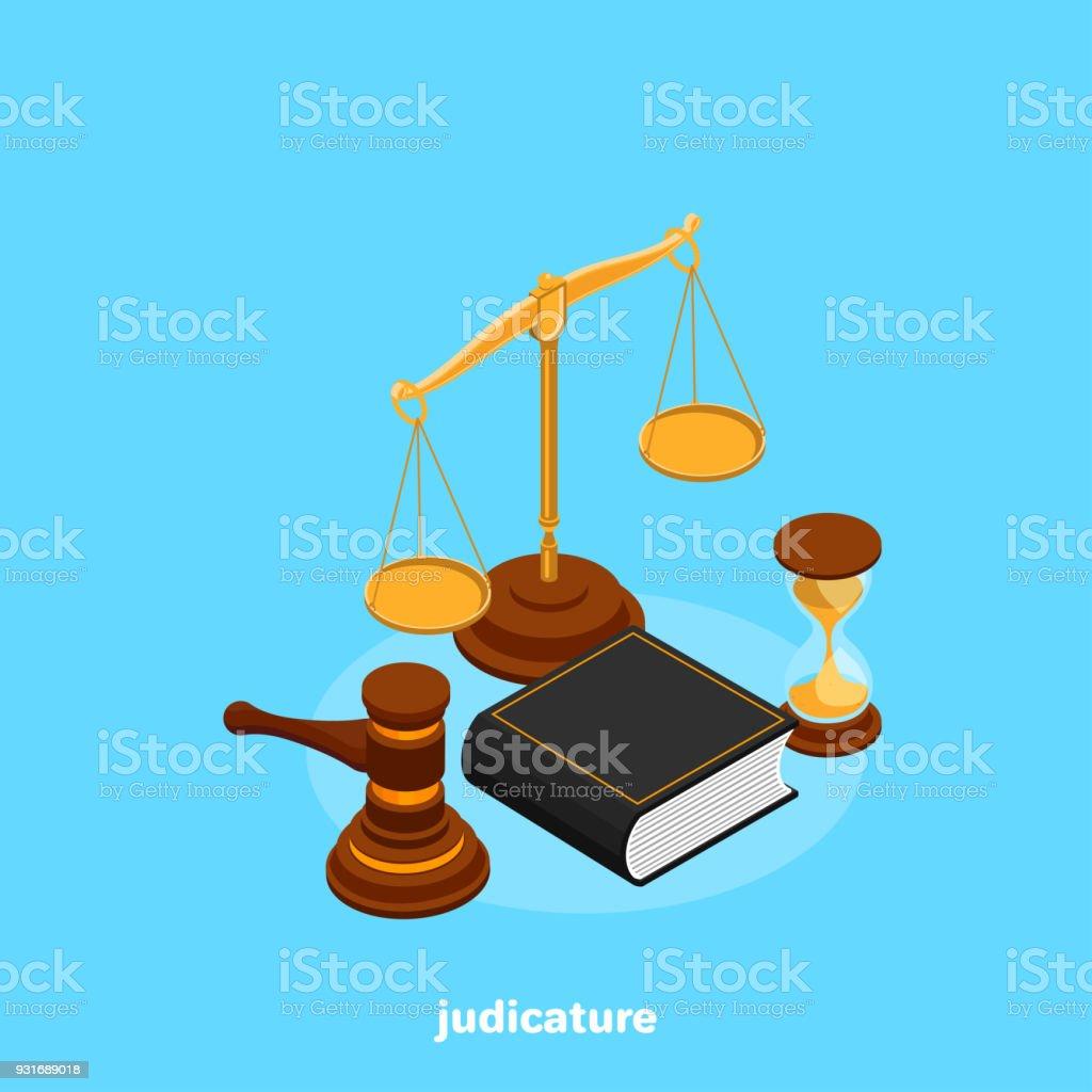 judicature vector art illustration