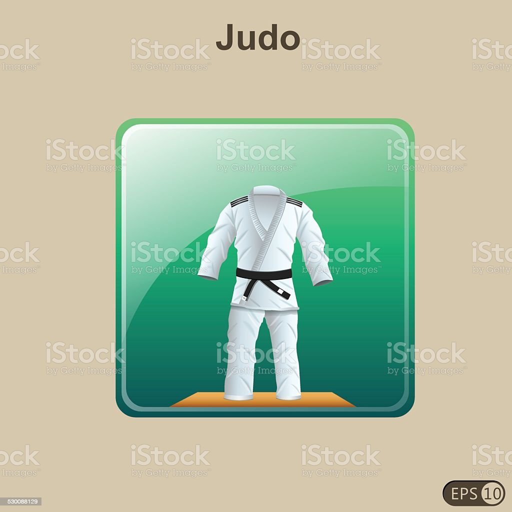 Judo Icon vector art illustration