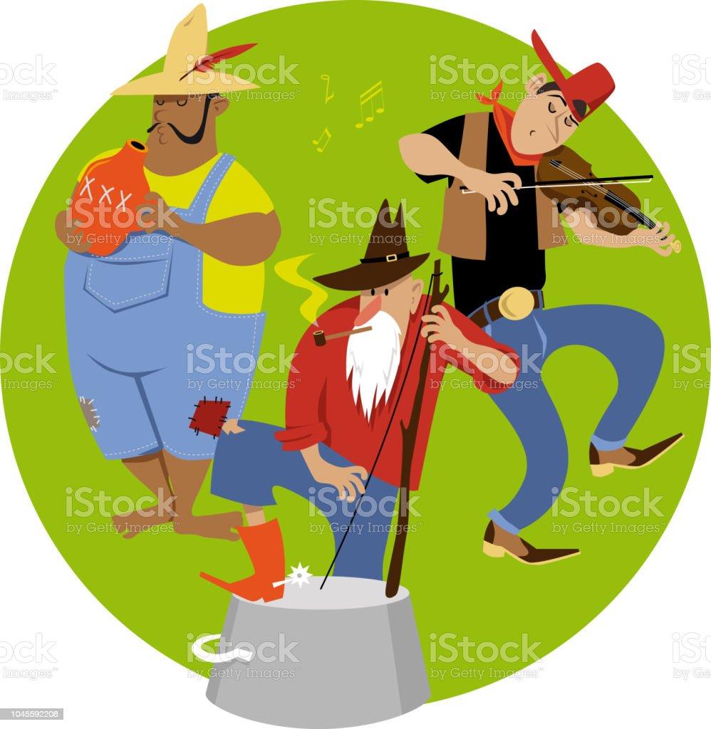 Jug band vector art illustration