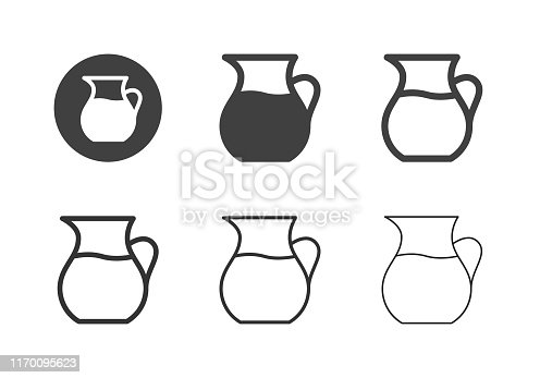 Jug of Water Icons Multi Series Vector EPS File.