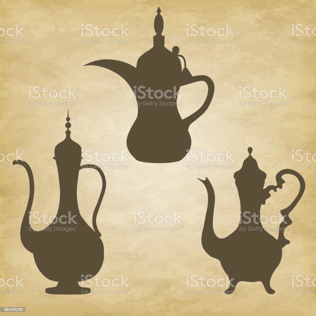 jug old Arab. Vector illustration on grunge background royalty-free jug old arab vector illustration on grunge background stock vector art & more images of arabia