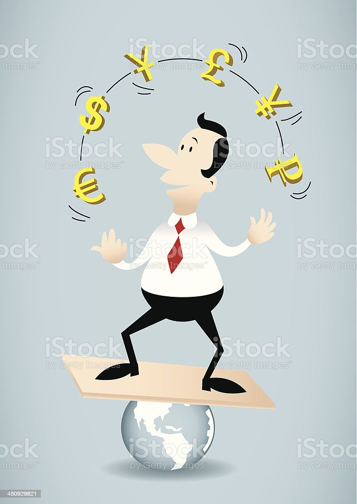 Juggle currency royalty-free stock vector art