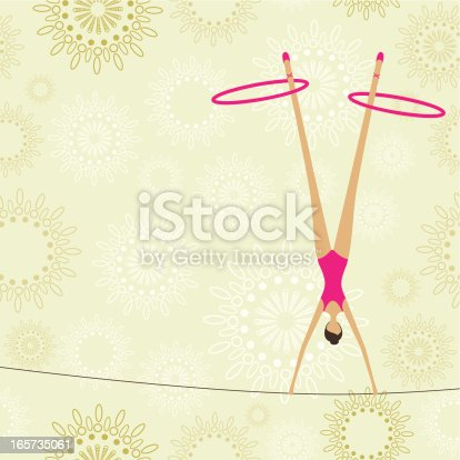Juggler woman show
