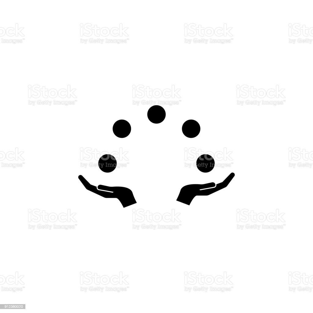 juggling balls icon. Elements amusement park concept and web apps. Icon for website design and development, app development. Premium icon vector art illustration