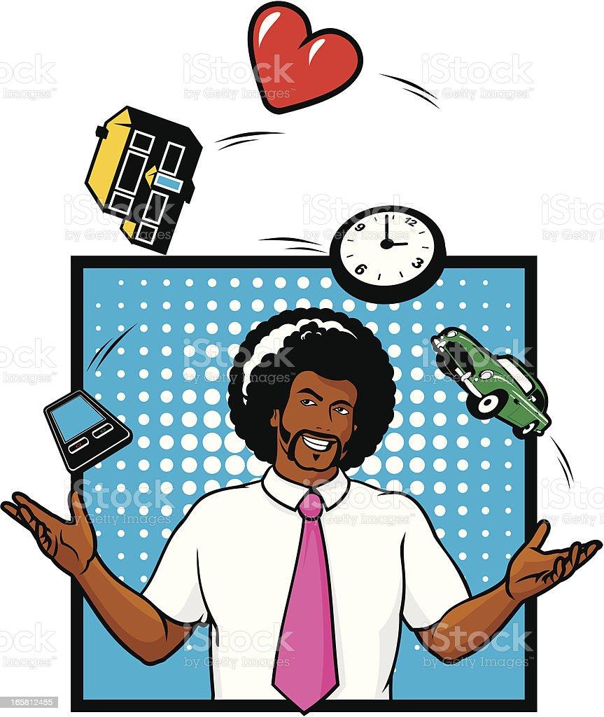Juggling Life vector art illustration