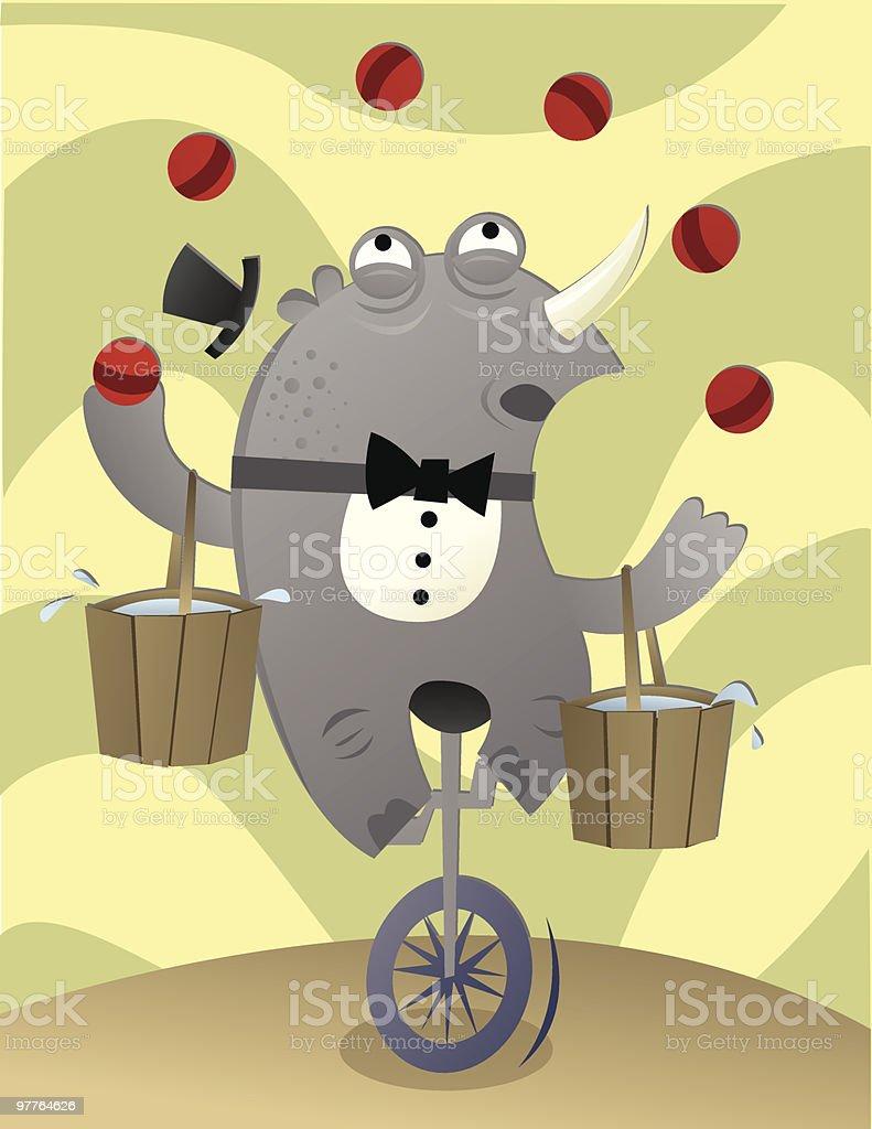 juggling  rhino royalty-free juggling rhino stock vector art & more images of animal themes