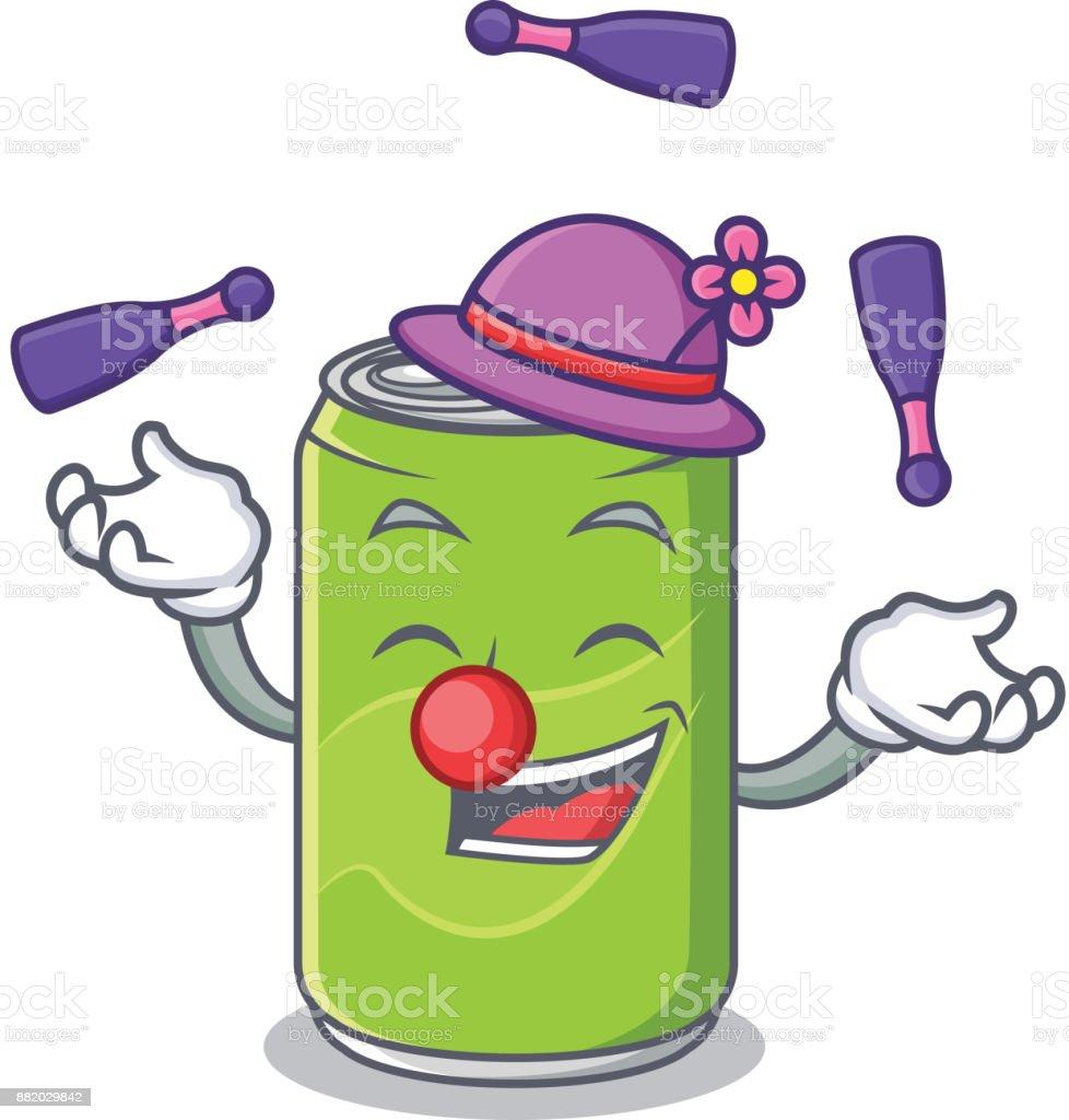 Alkoholfreies Getränk Charakter Cartoon Jonglieren Stock Vektor Art ...