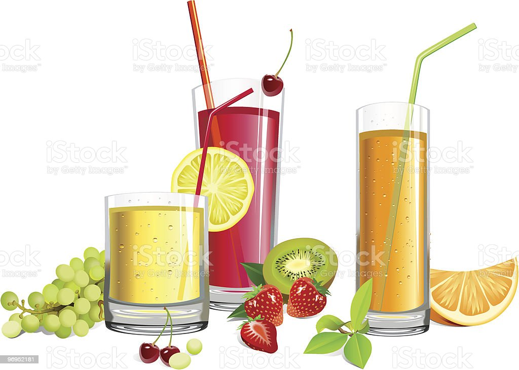 Juice and fruits royalty-free juice and fruits stock vector art & more images of bubble