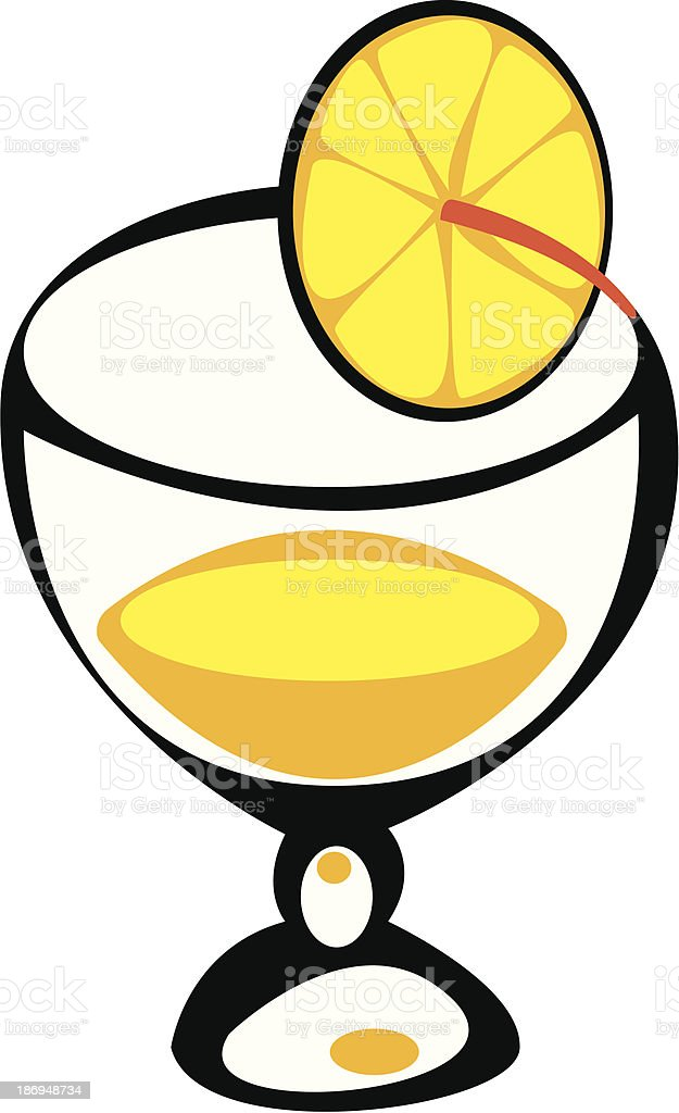 juice in glass on white background royalty-free stock vector art