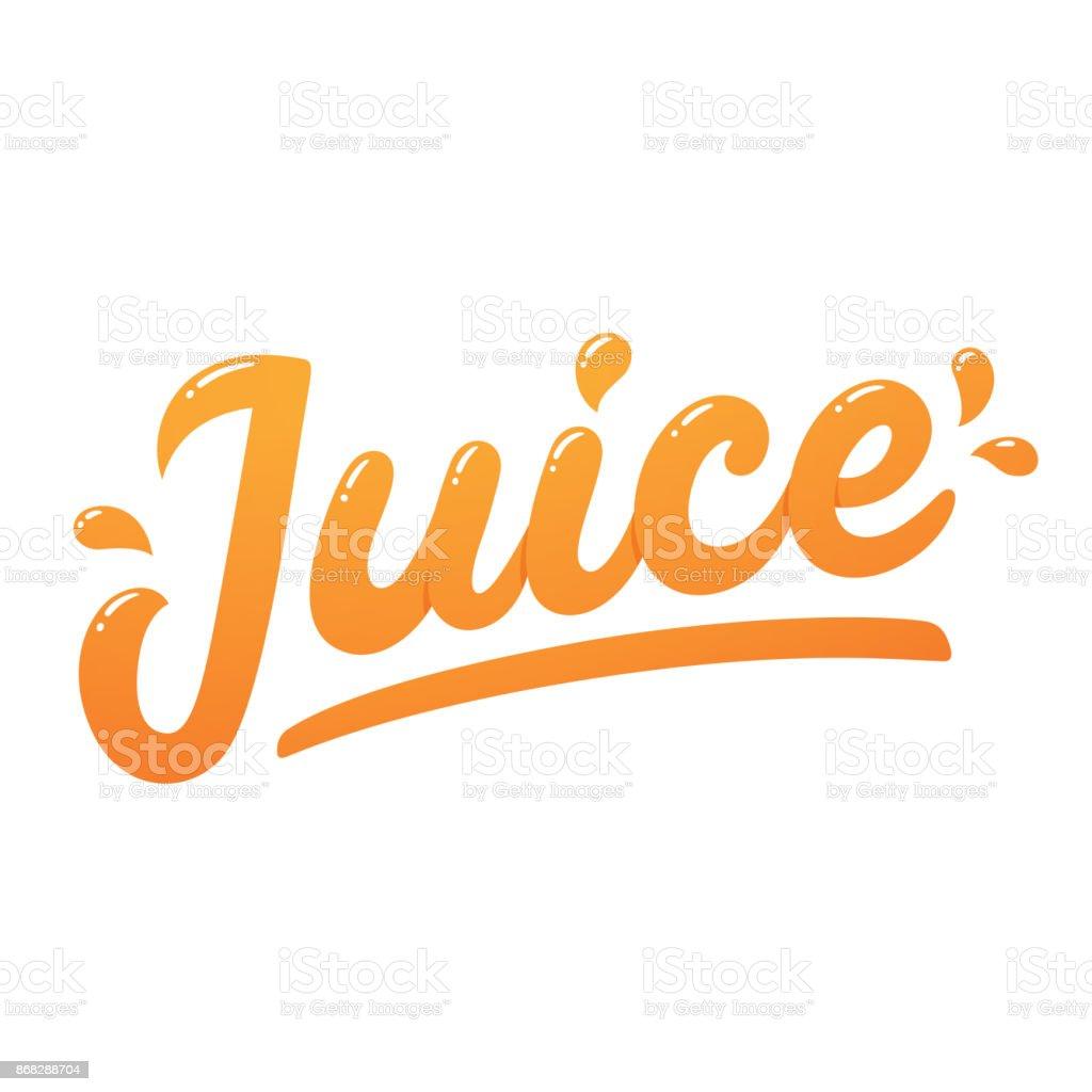Juice logo lettering vector art illustration
