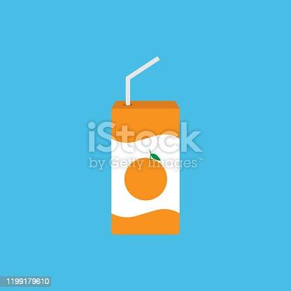 istock Juice pack icon simple design 1199179610
