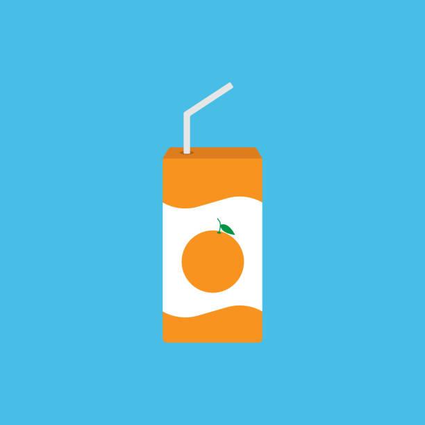 Juice pack icon simple design vector art illustration