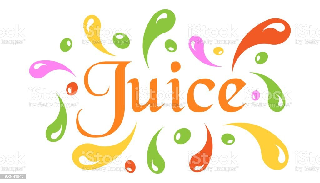 Juice splash spray vector icon in flat style. Juice drink illustration on white isolated background. Tropical lemonade concept. vector art illustration