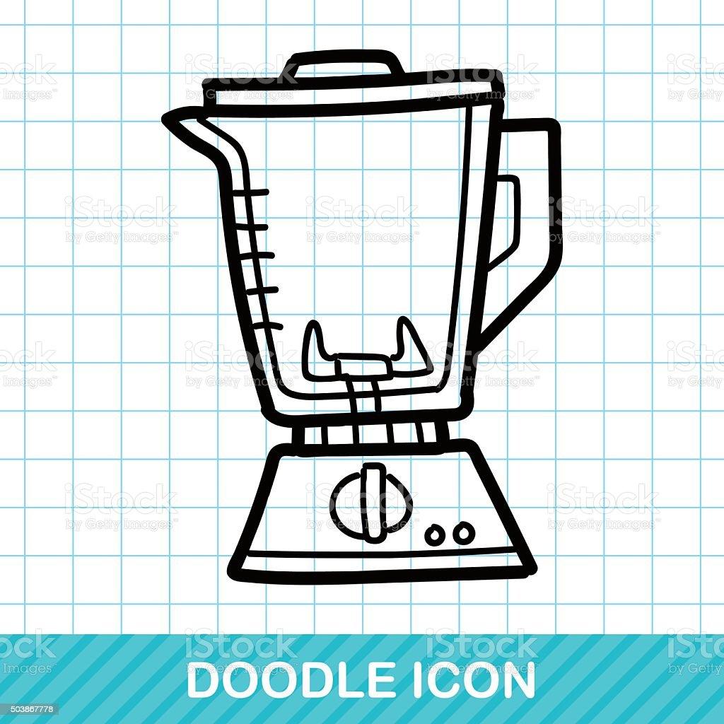 Juicer color doodle vector art illustration