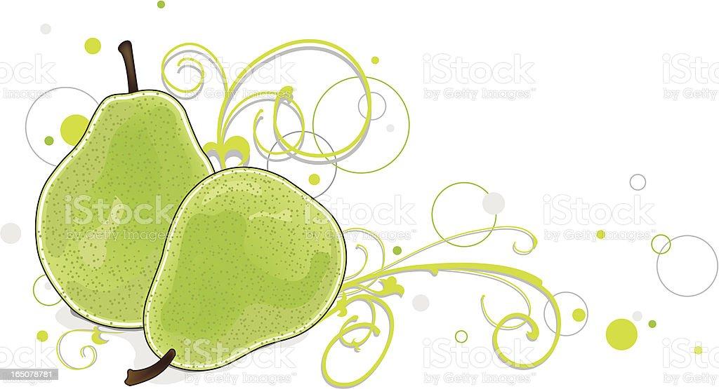 Juicy, swirly, splashy, bubbly pears! royalty-free juicy swirly splashy bubbly pears stock vector art & more images of bohemia