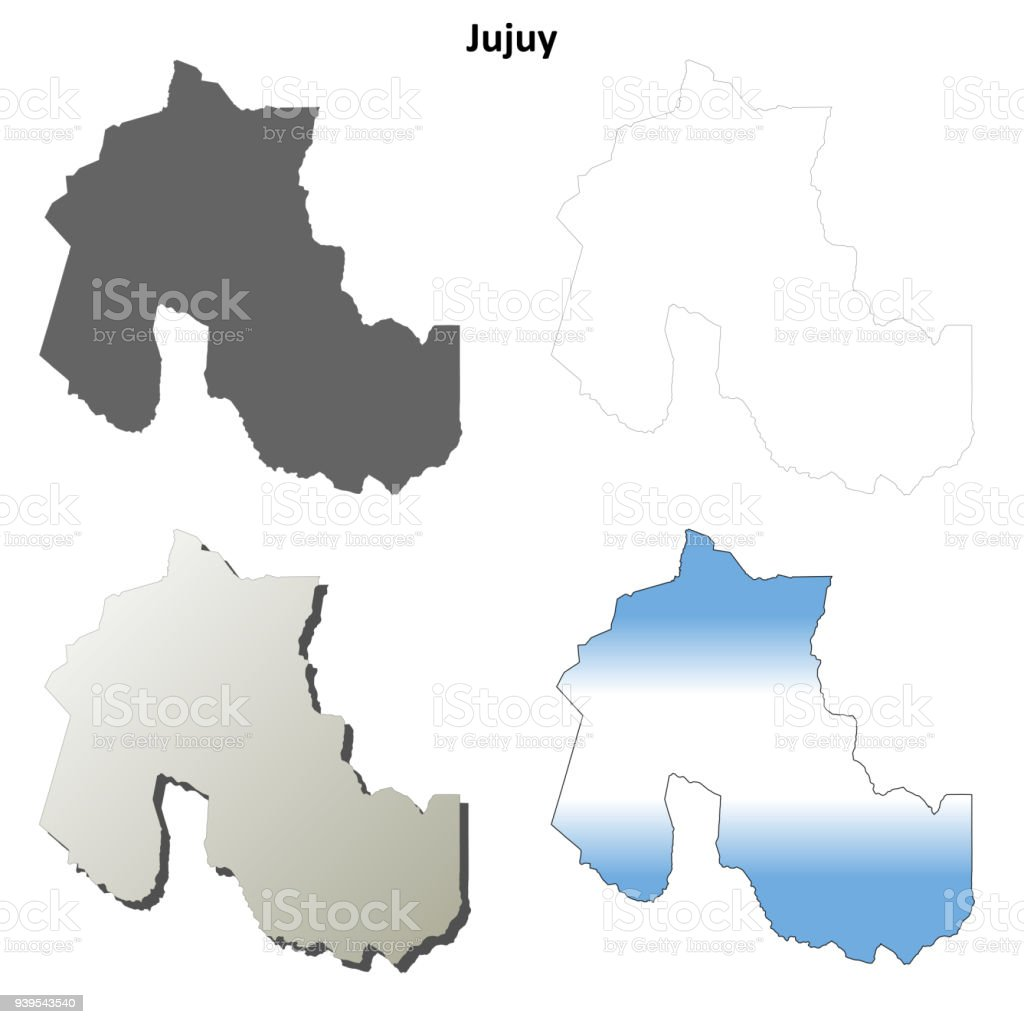Jujuy Blank Outline Map Set Stock Vector Art & More Images of ...