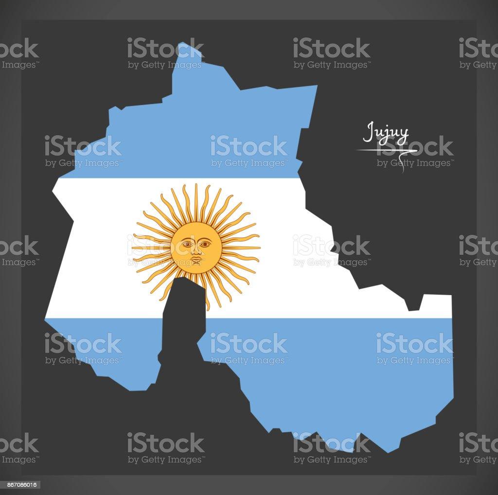 Ilustración De Mapa De Jujuy De La Argentina Con La