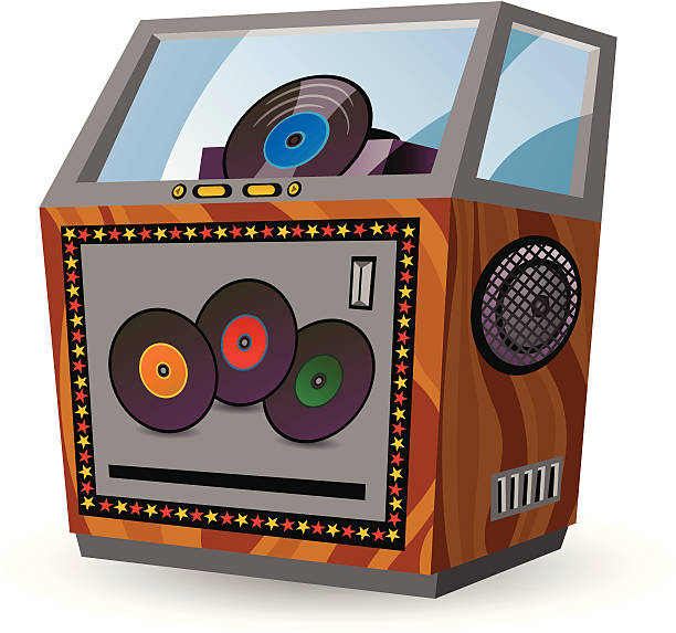Jukebox vector art illustration