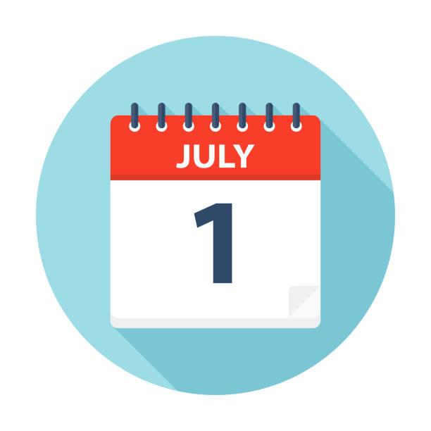 july 1 - calendar icon - calendar stock illustrations, clip art, cartoons, & icons