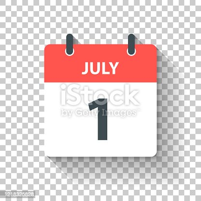 istock July 1 - Daily Calendar Icon in flat design style 1218325828