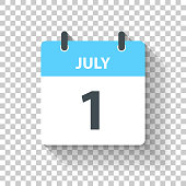 istock July 1 - Daily Calendar Icon in flat design style 1310954749