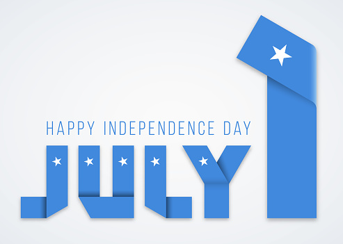 July 1, Independence Day of Somalia congratulatory design with somalian flag elements. Vector illustration.