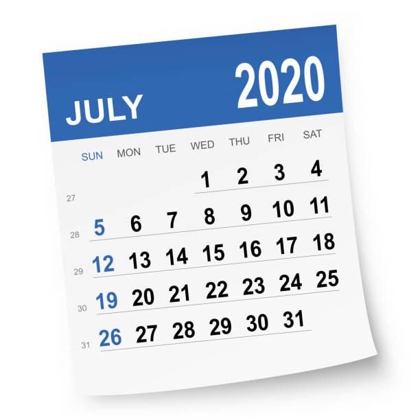 July 2020 Calendar vector art illustration