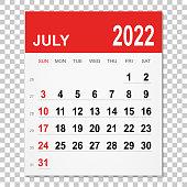 istock July 2022 Calendar 1344548483