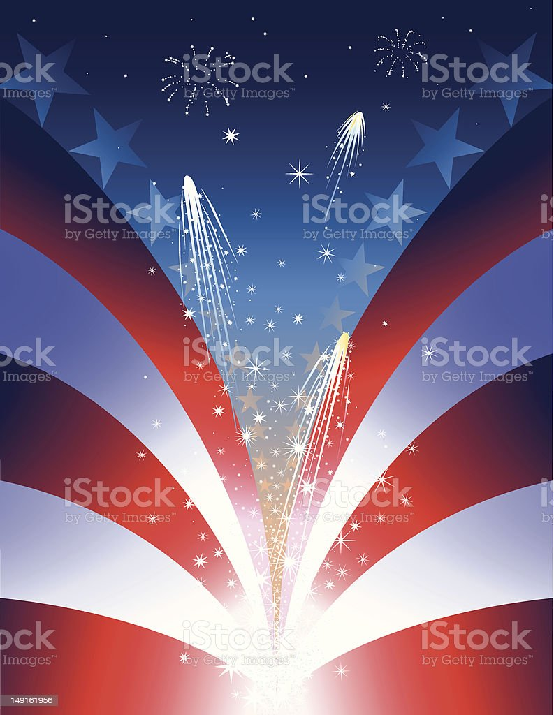 July 4th Background royalty-free stock vector art