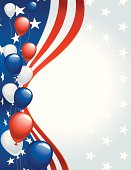 July 4th Clip Art Background