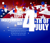 July 4th Patriotic Background.Each element in a separate layers.Very easy to edit vector EPS10 file.It has transparency layers with blend effects.