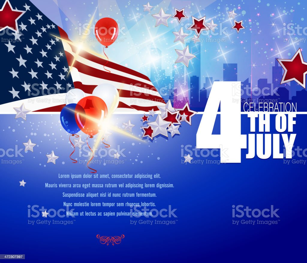 July 4th Patriotic Background royalty-free stock vector art
