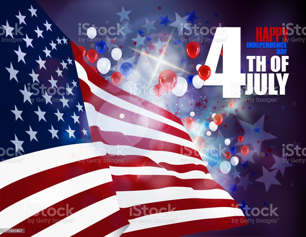 July 4th Patriotic Celebrations Background royalty-free stock vector art