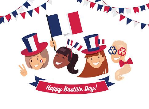 14 July Bastille day flyer, banner or poster.