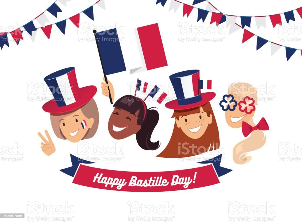 14 July Bastille day flyer, banner or poster. vector art illustration