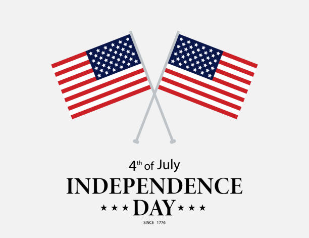 july fourth. usa independence day. 4th of july greeting card - memorial day stock illustrations