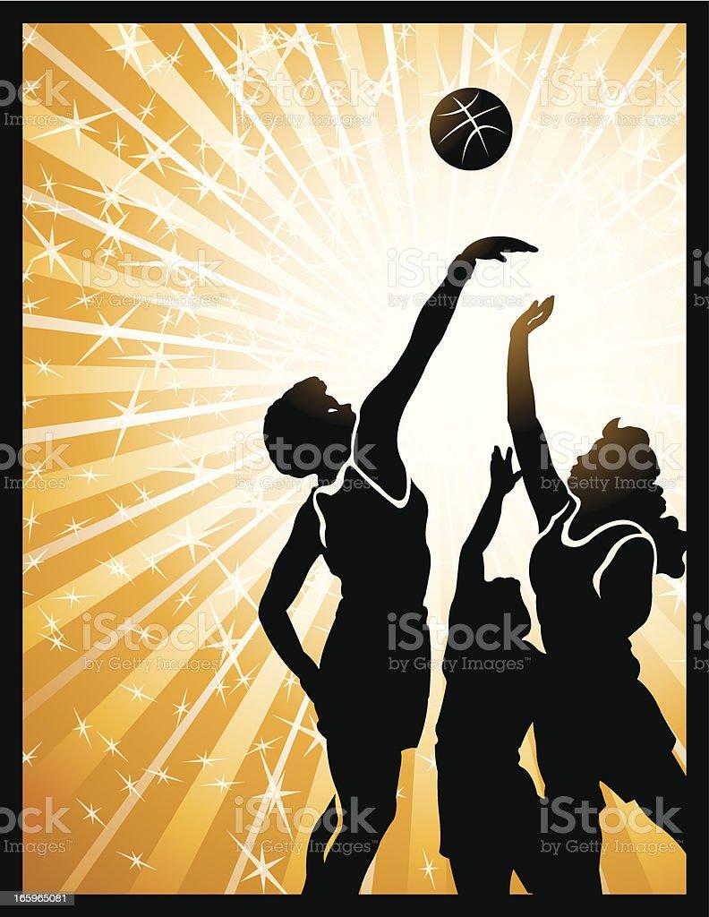 Jump ball girls basketball background stock illustration - Basketball wallpapers for girls ...